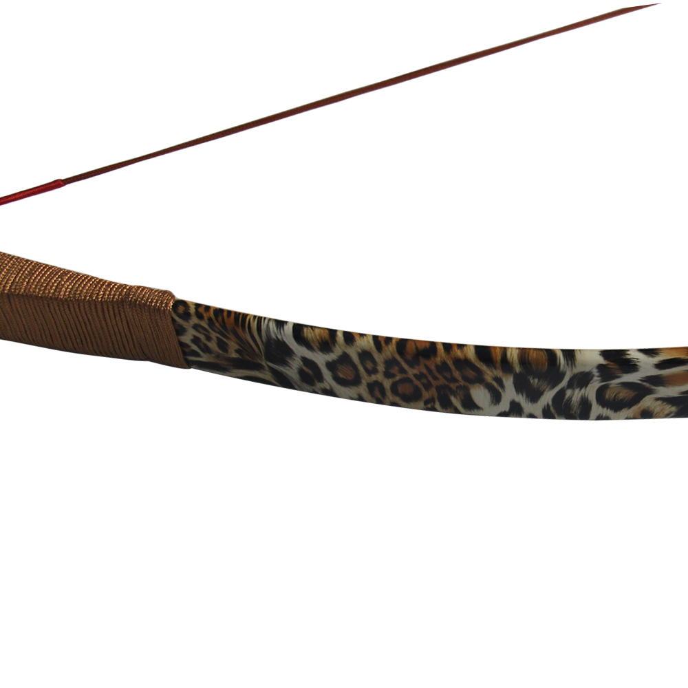 Archery Bows and Arrows Leopard Traditional Recurve Bow for Adult Outdoor Sports Hunting Shooting Sling Shot Bow