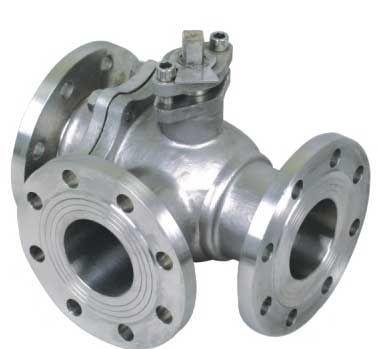 Cast Steel Three-way Ball Valve
