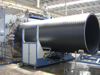 HDPE Large Diameter Hollow Wall Winding Pipe line