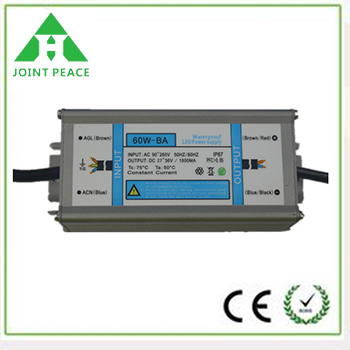 60W IP67 Waterproof Constant Voltage LED Power Supply