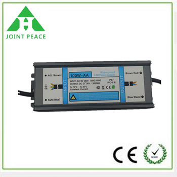 100W IP67 Waterproof Constant Voltage LED Power Supply
