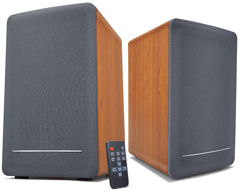 High Quality 2CH Loud Bookshelf Speakers with Wooden Cabinet