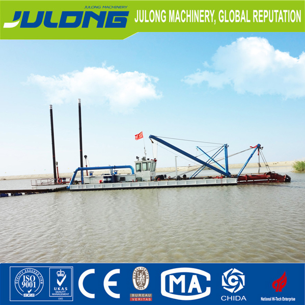high capacity cutter suction dredger for lake river channel dredging