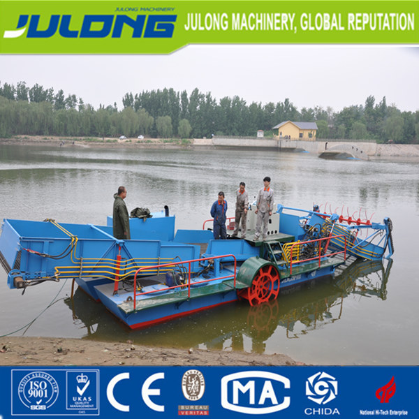 aquatic weed harvester for river reseroir lake hyacinth cutter