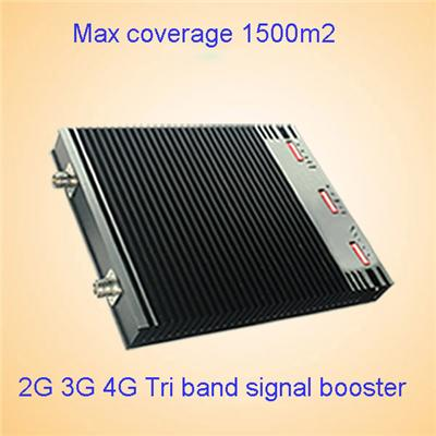 Handle three frequency Tri- Band 900 1800 2100mhz 2G 3G 4G signal booster equipment /CHINA mobile signal booster