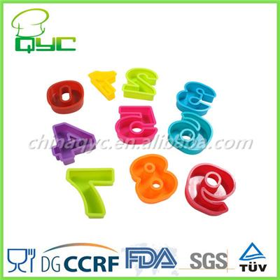Plastic Numbers Cookie Cutters 10PCS