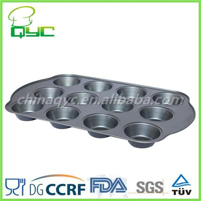 Non-Stick Carbon Steel Twelve Hole Deep Muffin Baking Pan