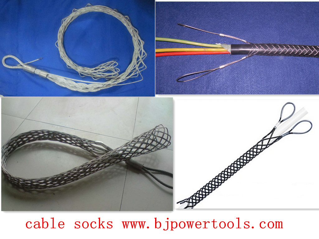 Cable grip connector for cable Cable Socks wire mesh grips