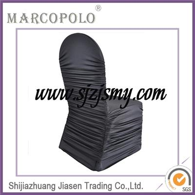Wholesale Cheap Wedding Spandex Ruffled Chair Cover With Diamond Buckle
