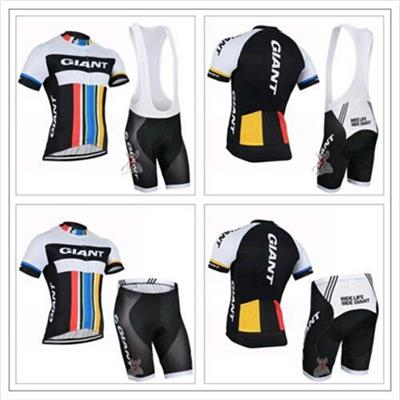 Cycling Jersey Sets Short Sleeve With Padded Bib Shorts/None Bib Trousers