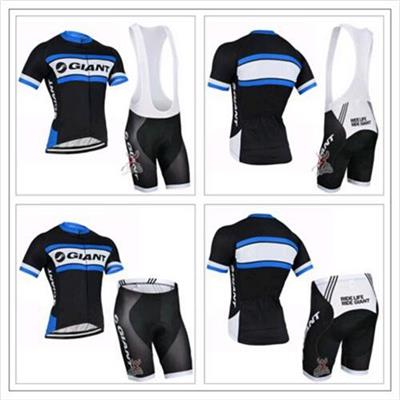 Pro Team Blue Cycling Jersey + Bib Shorts Sets Tour De France