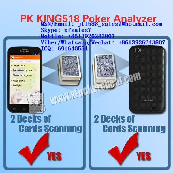 XF PK King 518 Poker Analyzers Are With 3 Different Frequencies To Work With Any Cameras For Another Poker Analyzers  / invisible ink / marked playing cards / cards playing cards / playing cards china