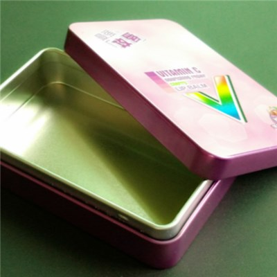 Colorful Metal Tinplate Candy Tin Containers With Cover