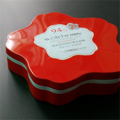 Flower Shaped Promotion Gift Tin Box
