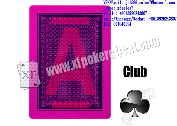 XF EGRET plastic playing cards for poker analyzer and UV contact lenses