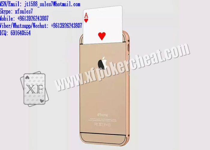 XF iPhone 6 Mobile Phone Poker Exchanger / Operate / Poker cheat marked cards / poker scanner / cards cheat / contact lenses / invisible ink / marked playing cards / cards playing cards / playing card