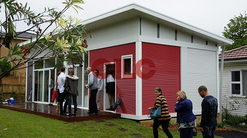 container building for accommodation and living