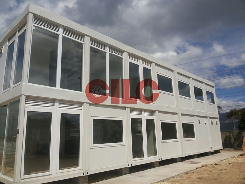 20'ft Flat Pack Container with Large Windows