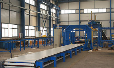 stacking machine using vacuum cap crane