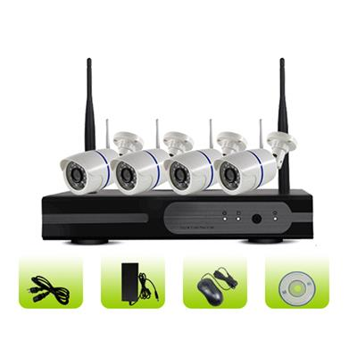 SK04W-10PN Support P2p 3g Smart Home Bullet Ip Camera 4ch 1080p Wifi Nvr Kits