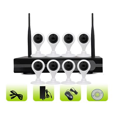 SK08W-10CA Two Way Audio 8ch Security Mini 3g Wifi Home Ip Camera Nvr Kits