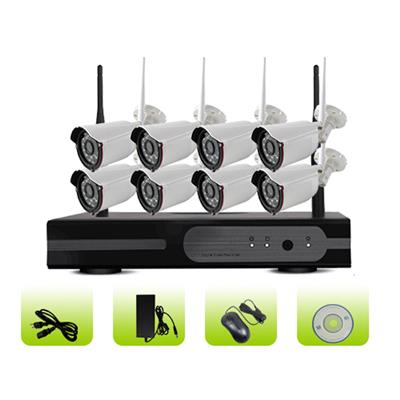 SK08W-10PE H.264 Waterproof Ip66 Remote Control 3g Ngiht Vision Security Camera System