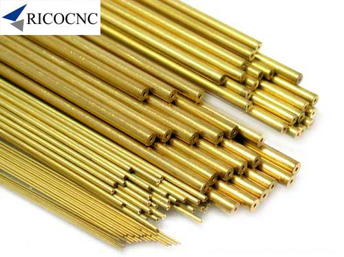 Single Hole Tubing EDM Brass Tube Electrode Single Channel for Small Hole Drilling EDM