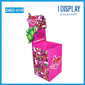 OEM Corrugated Paper Dump Bin Display Standing For Chain Store Promotion