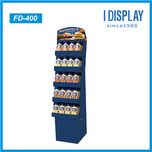 Manufacturer Wholesale Custom Shop Retail Snacks Food POS Cardboard Floor Display Shelves
