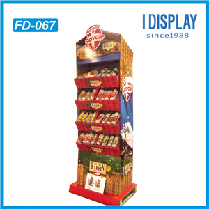 Advertising Pop Cardboard Paper Display Stand For Food