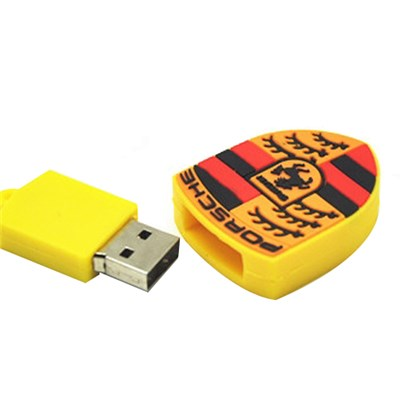Porsche Shell PVC USB Flash Drive