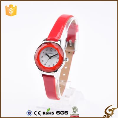 Hot Sale Slim Watches Pu Leather Strap