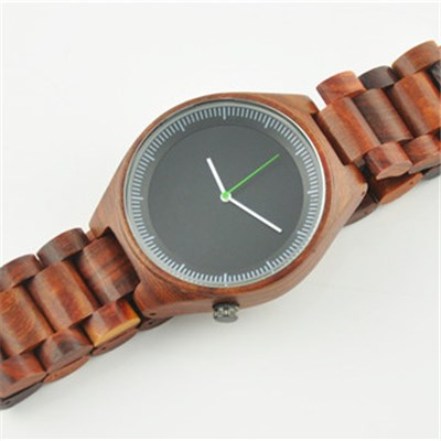 Waterproof Wood Watch With Quartz Movement