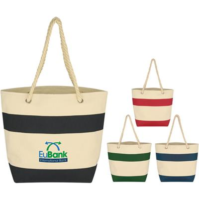 Canvas Rope Handle Beach Bag