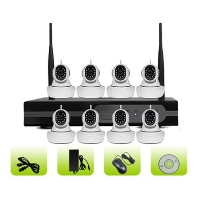 SK08W-10RM 8 Channel Two Way Audio Recording 720p Wifi Ip Camera System