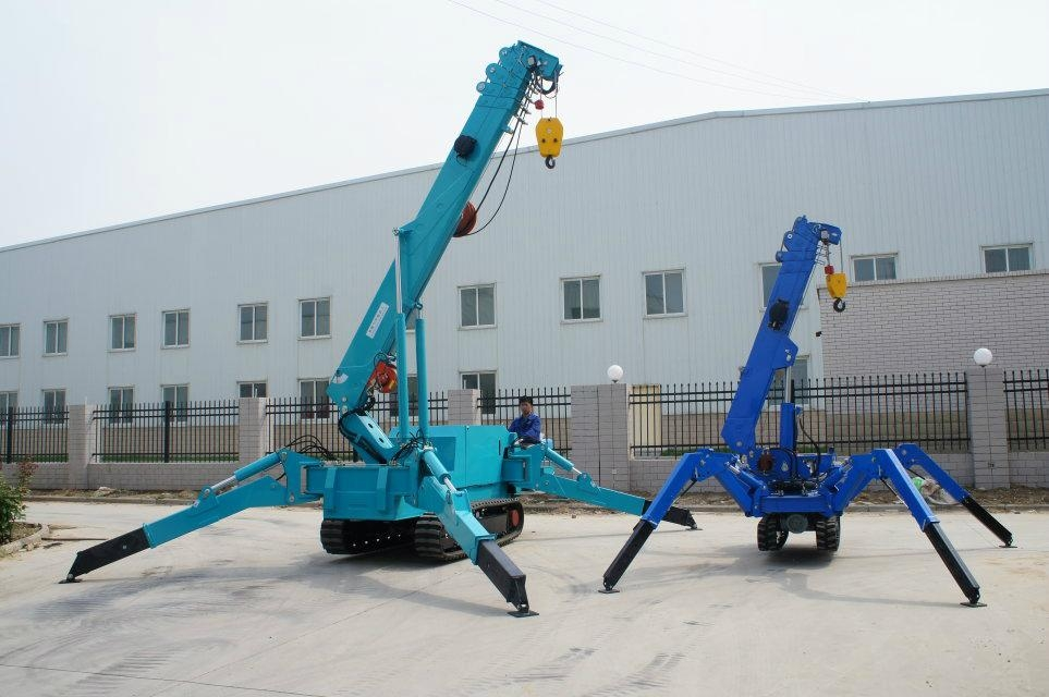1 ton 3 ton 5 ton Mini Spider Crane with Crawler