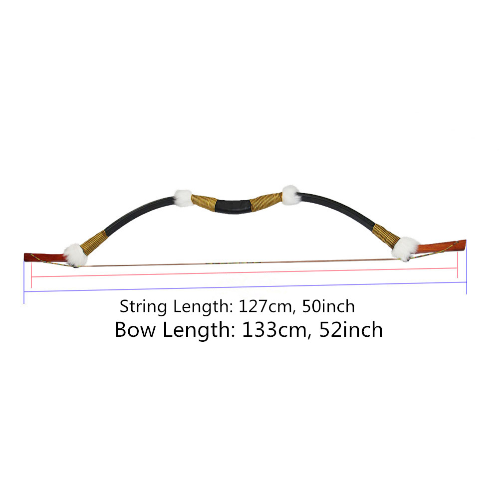 Archery 45lbs Recurve Bow Traditional Wooden Longbow for 400 spine Carbon/Fiberglass Arrow Hunting Target Shooting