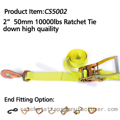 "CS5002 2"" 50mm 10000lbs Ratchet Tie down high quaility"