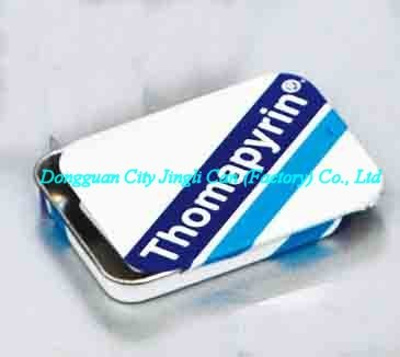 Eco-friendly customized mint tin with sliding lid made of 0.23mm thickness tinplate