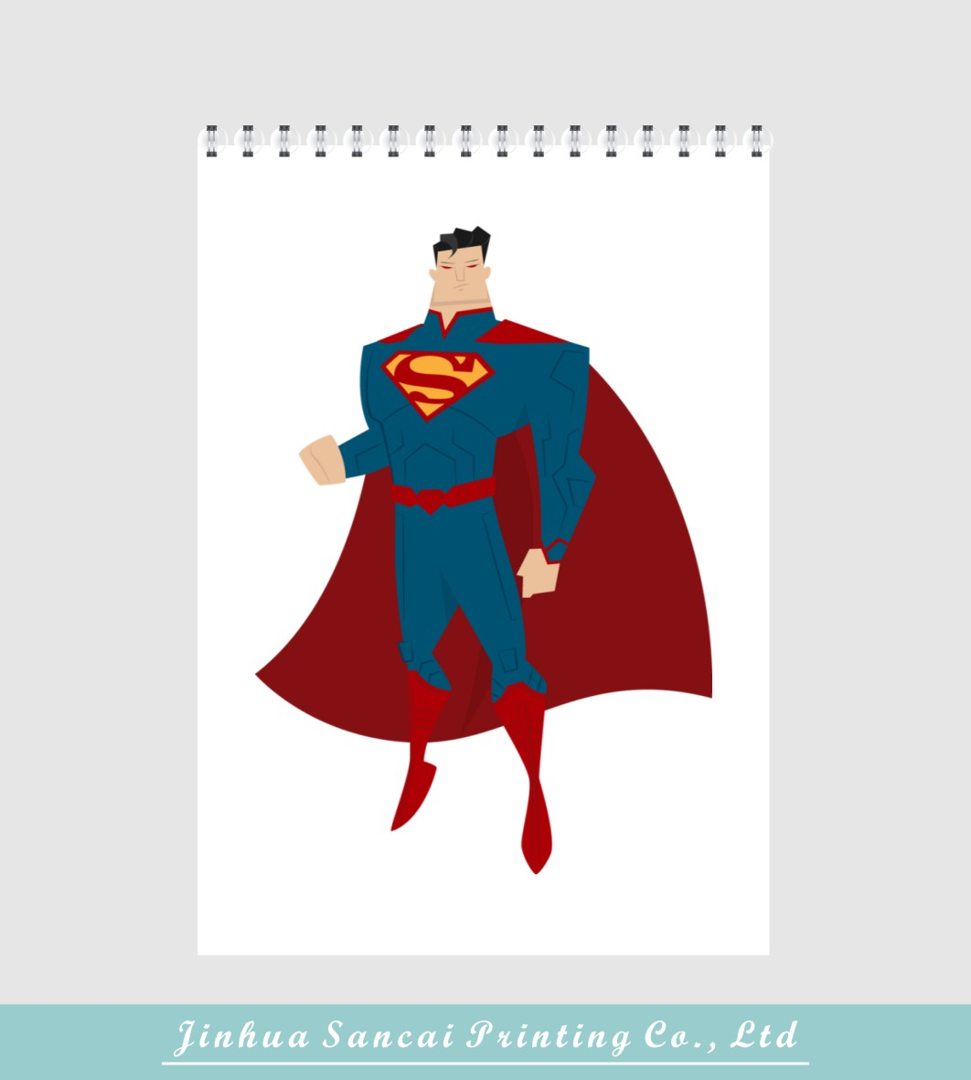 printed superman cartoon book