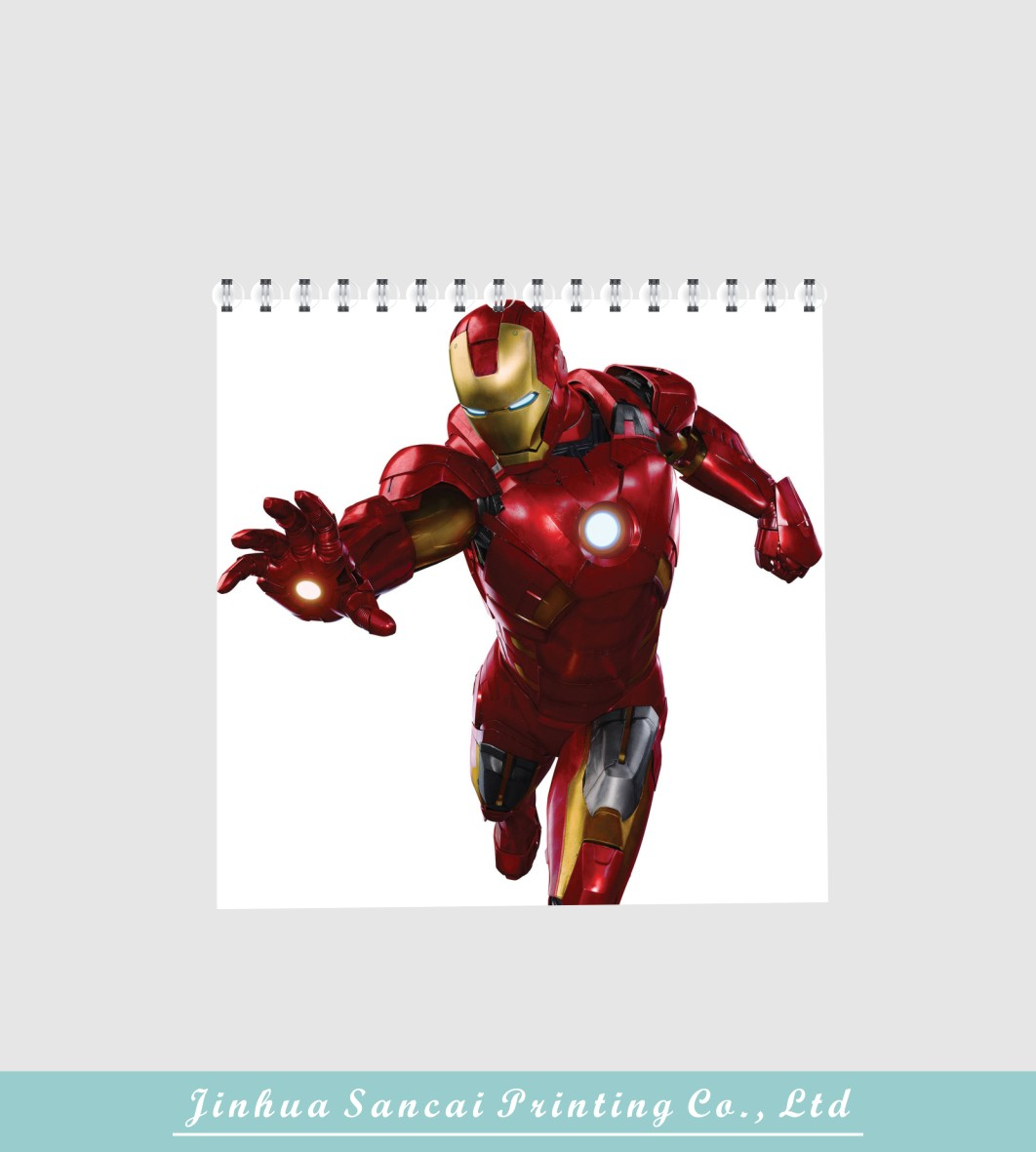 printed iron man cartoon book