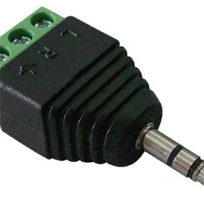 3.5mm CCTV Mono Male Stereo Connector With 3-Pin Screw Terminal (CT137)