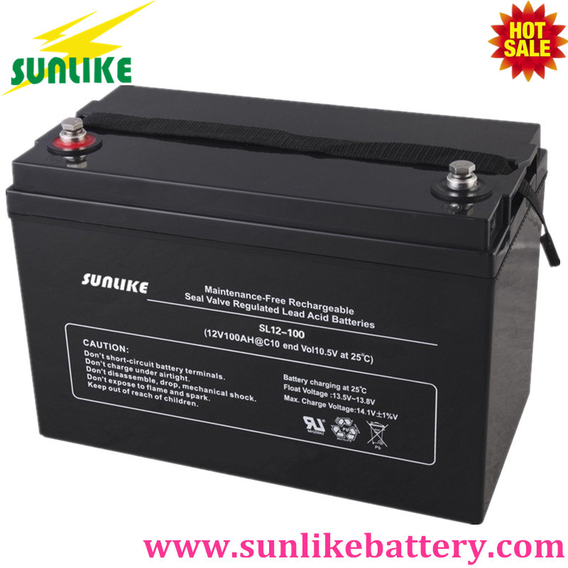 Deep Cycle Lead Acid Solar Battery 12V100ah for UPS