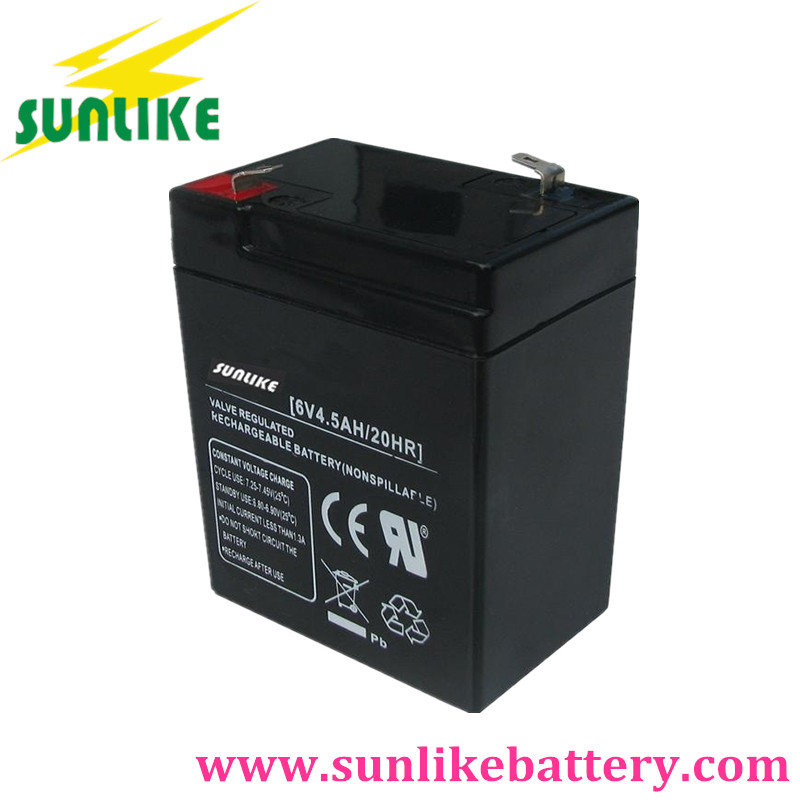 6V4ah Rechargeable Sealed Lead Acid Battery for Electric Scale Toycar