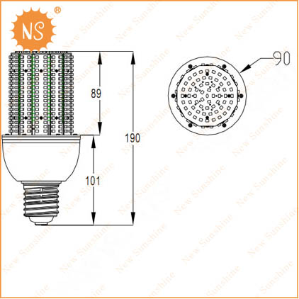20w led corn bulb light
