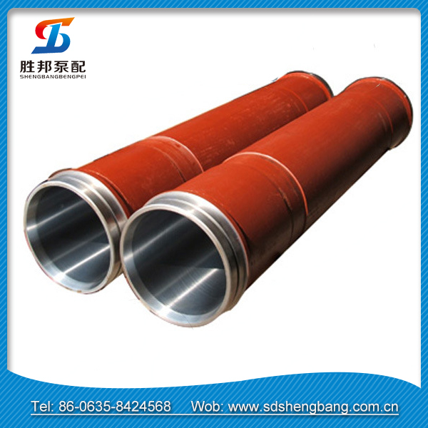 DN125 durable single wall seamless concrete pump pipe