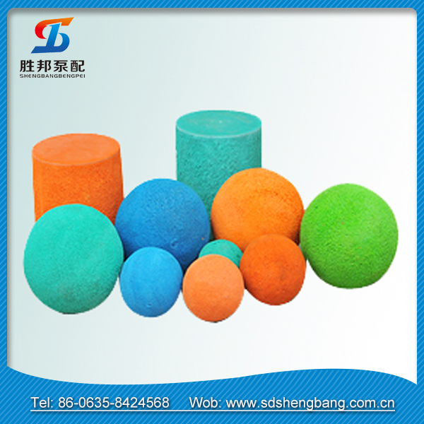 Advanced equipment produce Concrete pump sponge quality concrete pump rubbe cleaning ball