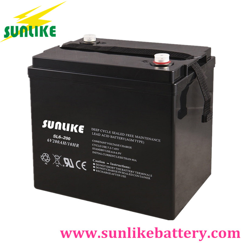 AGM VRLA Battery, Sunlike Solar Battery 6V200Ah