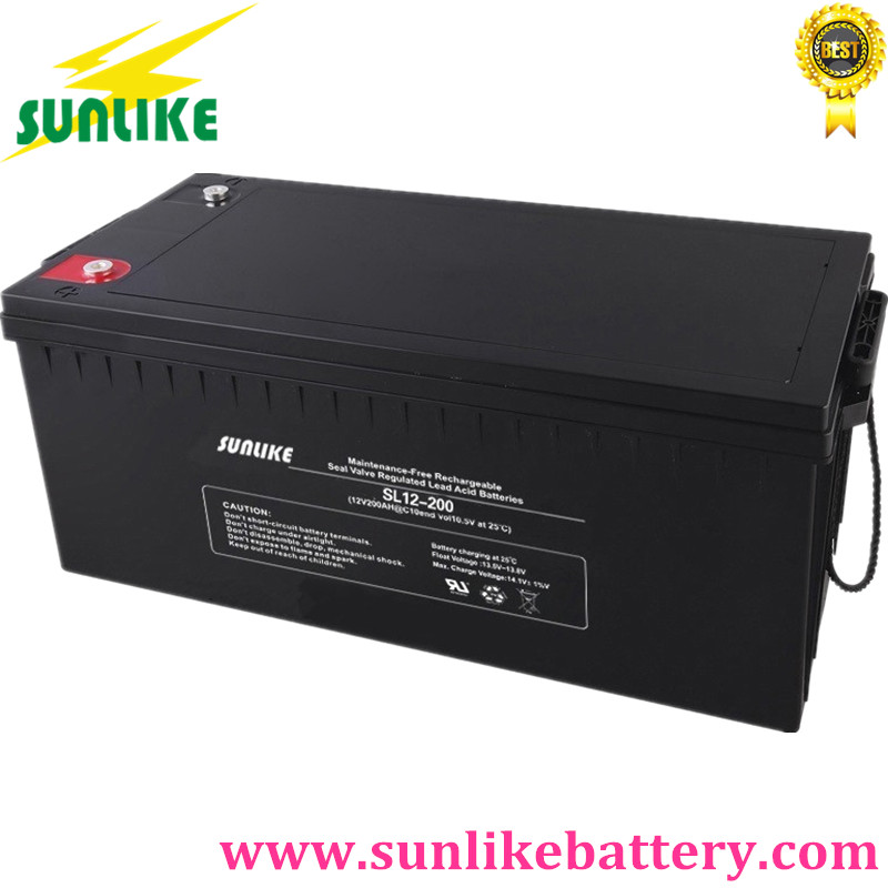 Sunlike Marine Battery, Street Lighting Battery, Solar Battery 12v200ah