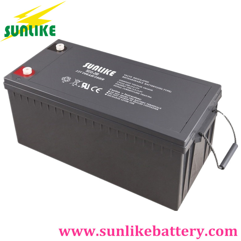 Gel Battery, Solar Battery, Rechargeable Battery 12v200ah